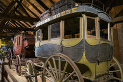 Antique Stage Coaches on Display royalty free stock images