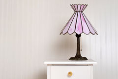 Antique stained glass lamp Stock Photos