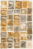 Antique stamps. A lot of antique worldwide stamps