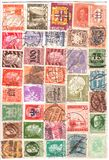 Antique stamps. A lot of antique worldwide stamps Royalty Free Stock Photo