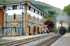 Antique station in Azpeitia Royalty Free Stock Images