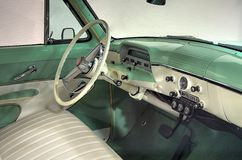 Antique Station Wagon Interior Stock Photo