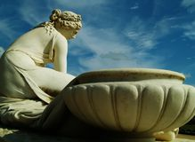 Antique statue. Woman and pot Royalty Free Stock Image