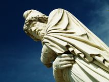 Antique statue. Philosopher thinking (statue Royalty Free Stock Photos