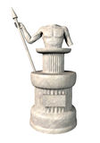 Antique statue. 3d render illustration Royalty Free Stock Photos
