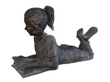 Antique statue - girl reading Royalty Free Stock Photos