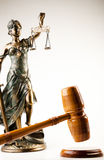 Antique statue of justice Stock Image