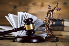 Antique statue of justice, law Royalty Free Stock Image