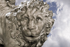 Antique statue of a lion Royalty Free Stock Photography