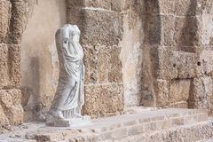 Antique statue in National Park, Caesarea, Israel Royalty Free Stock Photo
