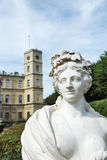 Antique statue next to Great Palace in Gatchina Royalty Free Stock Image