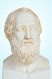 Platon. Antique statue of Plato or Platon, he was a philosopher and a mathematician in Classical Greece. He was also, student of Socrates Royalty Free Stock Images