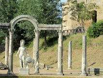 Antique statue in Villa Adriana, Tivoli Rome Royalty Free Stock Photos