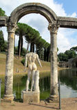 Antique statue in Villa Adriana, Tivoli Rome Royalty Free Stock Image