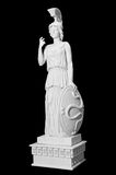 Antique statue of a woman with a shield Stock Photo