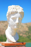 Antique statues in Greece. Antique statues in the sunny summer in Greece Stock Photography