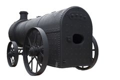 Antique Steam Engine Stock Photography