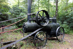 An antique steam engine from pioneer days Stock Photography