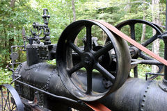 An antique steam engine from pioneer days Royalty Free Stock Image
