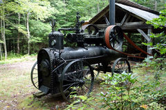 An antique steam engine from pioneer days Stock Image