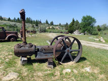 An antique steam engine from pioneer days Stock Photo