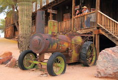 USA/Arizona: Antique steam tractor  Royalty Free Stock Images