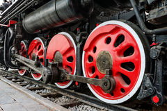 Antique steam train Royalty Free Stock Images