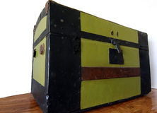Antique Steamer Trunk Stock Image