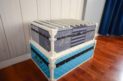 Antique steamer trunk Royalty Free Stock Image