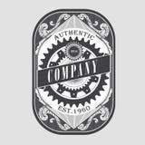 Antique steampunk label vintage frame retro border engraving Stock Image