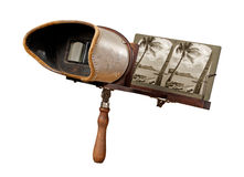 Antique Stereograph isolated with a clipping path Stock Image