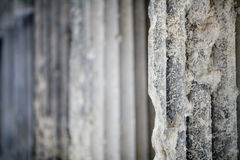 Antique stone column background Royalty Free Stock Images