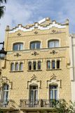 Beautiful stone  hotel  building  in Sitges,Spain Royalty Free Stock Photo
