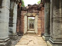 Antique stone pillars Phimai Historical Park. In Thailand Stock Images