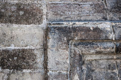 Antique stone wall detail Royalty Free Stock Photo