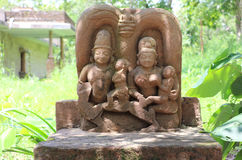 Antique stones  idols of Jain God & Goddess Royalty Free Stock Photo