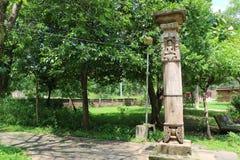 Antique stones  idols of Jain God & Goddess Royalty Free Stock Photography