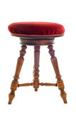 Antique stool. In front of white background Royalty Free Stock Photography