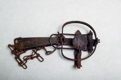 A Antique Stop Loss Leg Hold Trap Stock Images