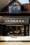 Antique Store in England. Exterior of ancient antique Store in England Stock Photo