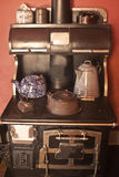 An antique stove and stove top. This is a picture of an antique stove and stove top Stock Photo
