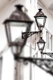 Antique street lamp abstract background Stock Images