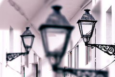 Antique street lamp abstract background Royalty Free Stock Photos