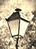 Antique street lamp in vintage style Stock Photos