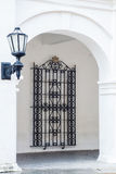 Antique street latern and window grid. In Cartagena de Indias Stock Images