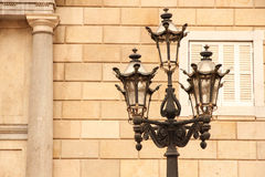 Antique Street light in Barcelona Stock Photography