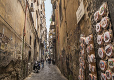 Antique street -Vico dei maiorani  ,Naples Royalty Free Stock Images