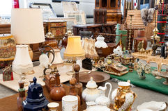 Antique stuff. For sale in a flea market royalty free stock photo