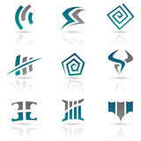 Antique Style Abstract Icons stock illustration