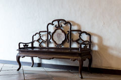 Antique style chinese bench Royalty Free Stock Photography